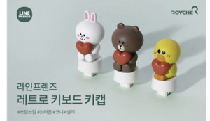 Line Friends Keyboard Retro Character Figure KeyCap Brown / Cony / Sally