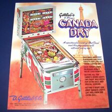 Gottlieb CANADA DRY Original 1977 NOS Flipper Arcade Game Pinball Machine Flyer