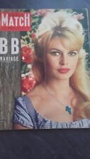 REVUE COLLECTION N°533 PARIS MATCH B.BARDOT 1959 BE IN FOLIO