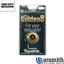 "Bille n°8 Aramith dorée ""Golden 8 ball"" - 57mm"