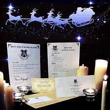 Harry Potter Hogwarts personalisiert Annahme Brief Christmas