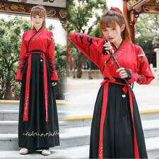 Womens Mens Unisex Chinese Traditional Oriental Style Hanfu Dress Robes Outfit