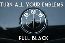TURN YOUR BMW EMBLEM ALL BLACK - BMW Colored Emblem Roundel Overlay Blackout