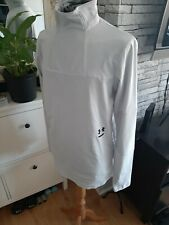 Under Armour Long Sleeves Running Top/Jacket  In Off White-Grey Fitted Size L