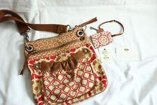 herbstliche Fossil Canvas Leder Umhänge Tasche lacy tote Riemen Hand bag purse