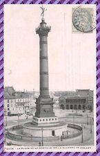 Cartolina - Parigi - Place la Bastiglia et la colonna juillet
