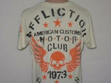Affliction LG American Customs REBEL ACMC Skull Wings Shirt Biker MMA UFC Tattoo