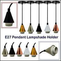Modern Pendant Fitting Ceiling Rose FabricIndustrial Cable E27 Lampshade holder