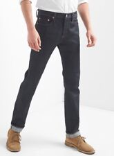 NWT $108 Gap Japanese Kaihara Selvedge Jeans, Slim Fit with GapFlex, RAW, 30x32