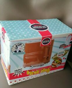 Hotdog maker 1950's Toaster style with original box instructions tongs