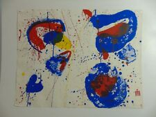 """Sam Francis  """"Hurrah for the Red, White and Blue"""" Farblithographie, 1961"""