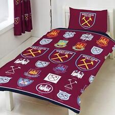West Ham United Single Duvet Set New Logo Repeat Crest