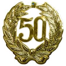 Wand-Deko Jubiläumszahl 50, gold