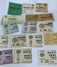 16 DIFF SCOTLAND  TICKETS 1964 to 1989 YOU CHOOSE