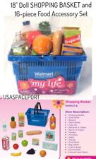 "18"" Doll Grocery Store SHOPPING BASKET+FOOD SET for My Life as American Girl Boy"
