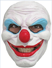 Evil Clown Mask Creepy Smile Sinister Cosplay Halloween Scary Adult Latex Full