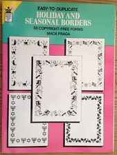 Holiday and Seasonal Borders Dover Quick Copy Art Book by Mack Fraga