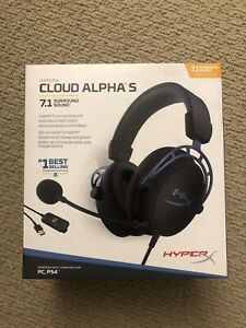 HyperX Cloud Alpha S Wired 7.1 Surround Sound Gaming Headset PC Blue BRAND NEW