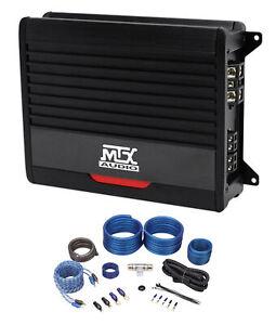 MTX THUNDER500.1 500 Watt RMS Mono Class D 2-Ohm Car Audio Amplifier+Amp Kit