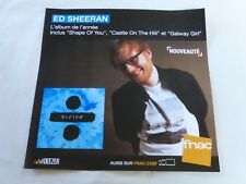 ED SHEERAN - DIVIDE !!!!!!!!!! !!!PLV 30 X 30 CM !!!!!!!!!!!!!!!!!!