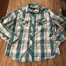 Helix Athletic Fit LS Button Up Shirt Size L #12978