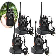 4 x Baofeng BF-888S UHF 400-470 MHz Walkie Talkie Way Radio + Free earpiece FT