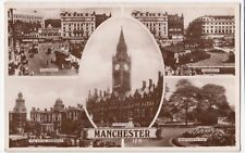 Manchester; Multiview RP PPC, 1935 Didsbury PMK, Shows Piccadilly, MRI, etc