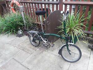 Brompton M3L Racing Green Folding Bike Bicycle - Worldwide Postage
