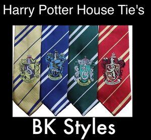 NEW HARRY POTTER House Tie Hufflepuff Gryffindor Fancy Dress UK Free P&P