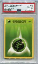 Pokemon Card Shadowless 1st Edition Grass Energy Base Set 99/102 PSA 10 Gem Mint