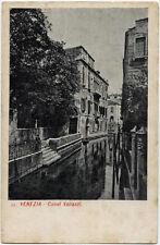 tarjeta postal VENECIA canal arrendamientos