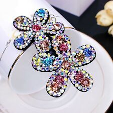 Quality Handmade Hair Clip Bobby Pin using Swarovski Crystal Hairpin Colorful 02