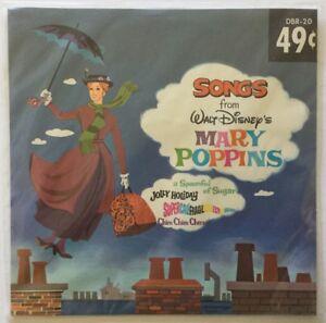 Walt Disney Little Gem Record SONGS FROM MARY POPPINS Disneyland DBR-20 / Sealed