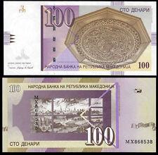 MACEDONIA 100 DENARI (P16i) 2009 UNC