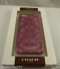 Coach for iphone case burgandy pinks  signature cute fits iphone 5