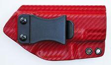 Glock 17/22/31 IWB Appendix Conceal Carry Kydex Gun Holster Red Carbon Fiber