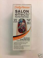 SALLY HANSEN SALON EFFECTS REAL NAIL POLISH STRIPS ( #580 Tattoo Much ) NEW.