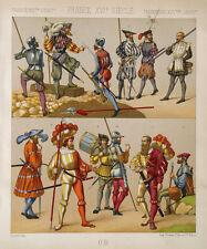 Infanterie France Hellebarde Schwert Landsknecht Scharfschütze Arquebusier Dolch