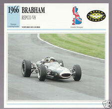 1966 Jack Brabham Repco V8 Race Car Photo Spec Sheet Stat Info French Atlas Card