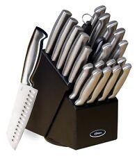 Cutlery Set Oster 70562.22 Baldwyn 22-Piece Block Brushed Satin Knife Kitchen Di