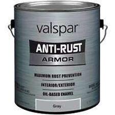 NEW GALLON VALSPAR 4029534 GLOSS GRAY ANTI-RUST INDUSTRIAL ENAMEL OIL PAINT