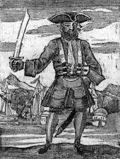 Blackbeard the Pirate 1725 7x5 cm reproduction impression artistique