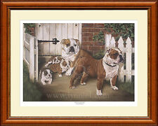BRITISH BULLDOGS print 'Herbert and Emily' by Lynn Paterson
