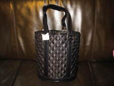 AUTH NEW MARC JACOBS QUILT SATIN BLACK TOTEBAG SMALL