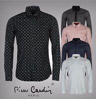 New Mens Designer Pierre Cardin All Over Print Long Sleeve Shirt Top Size S-XXL