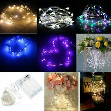 50 LEDs Battery Operated Mini LED Copper Wire String Fairy Lights 5M w/ Remote