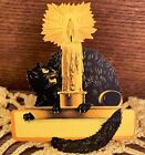 DEAD MINT SCARCE Vintage Halloween Dennison Placecard with Cat & Candle 1920s!!
