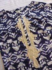 Banana Republic Women's S Small 100% Cotton Henley Short Sleeve Tie Dye Shirt