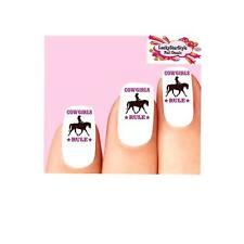 Waterslide Western Cowgirl Nail Decals Set of 20 - Cowgirls Rule Riding Horse