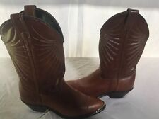Cowboy Boots Women's Brown Leather Laredo 6.5 Pattern Very Nice! USA Made